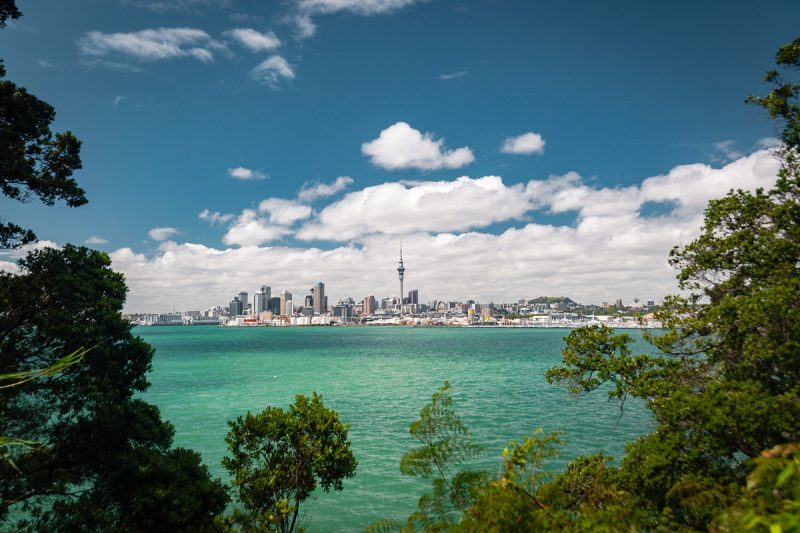 Skyline von Auckland, Neuseeland