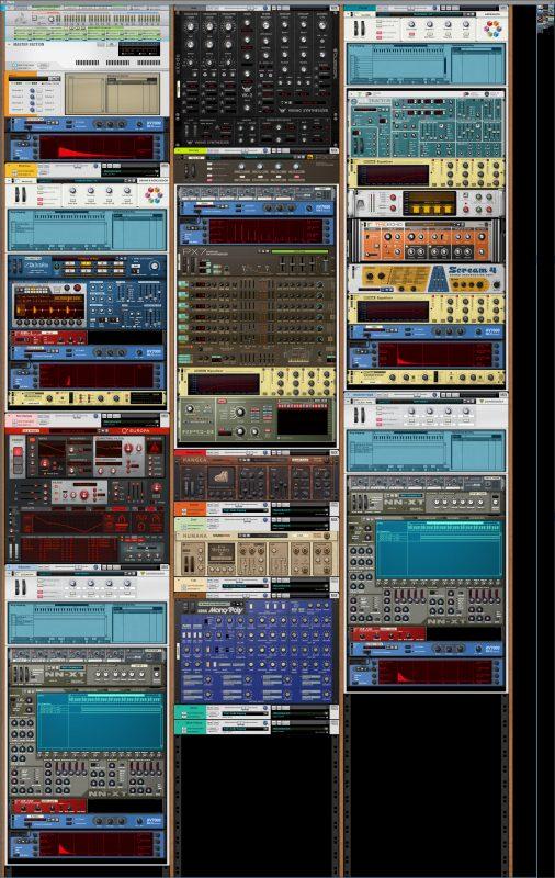Musikproduktion mit REASON: Die Rack-Instrumente als Screen Shot